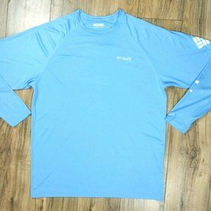 Columbia Sportswear PFG Men's Shirt Size XL Blue